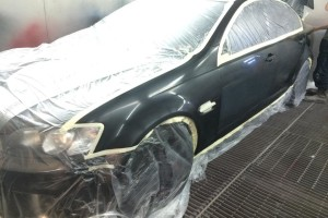 Holden VE SS in spraybooth