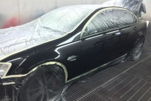 Holden VE SS in spraybooth 3
