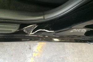 Toyota RAV4 door damage