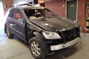 Mercedes Benz M Class damaged
