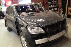 Mercedes Benz M Class damaged 1