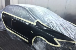 Honda Civic in spraybooth