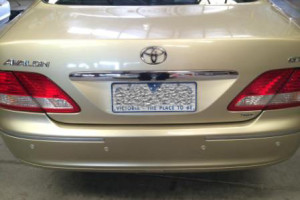 Toyota Avalon After Reverse Sensor Installation