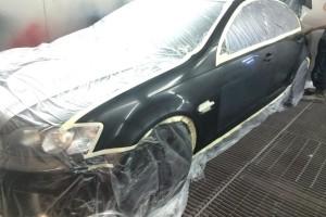 Holden VE SS in spraybooth