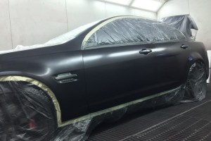 Holden VE SS in spraybooth 2