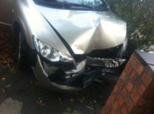 Honda civic 2008 hit wall
