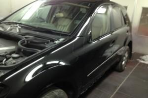 Mercedes Benz M Class in spraybooth