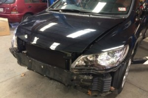 honda civic removed bumper