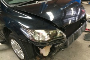 honda civic bumper removed 1