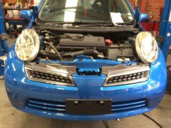 Nissan Micra Reinstalled Bumper