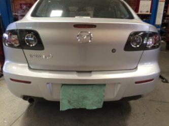 Mazda 3 2008 Bumper Repaired 2
