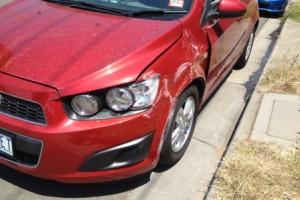 Holden Barina on side road 2