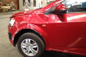 Holden Barina side view 1