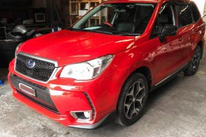 Red Subaru Forester 8