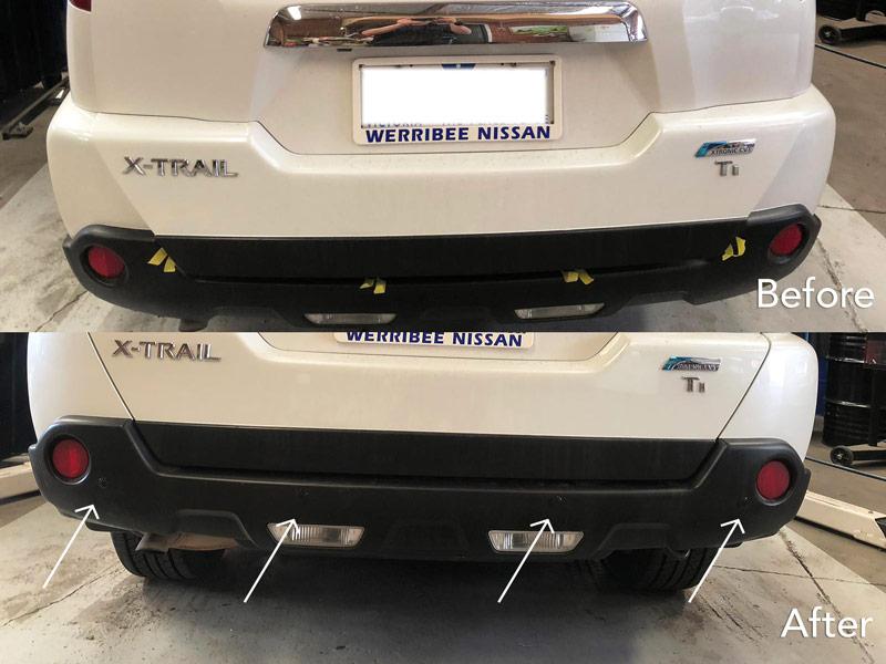 nissan rear parking sensor installation